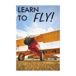 ¡Aprenda volar! Impresión En Lona Estirada