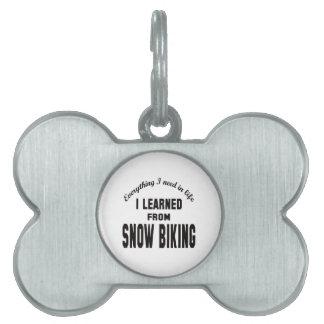 Aprendí de Biking. de la nieve Placas De Mascota