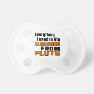 Aprendí de la flauta chupetes para bebés