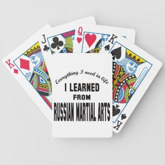 Aprendí de los artes marciales rusos barajas