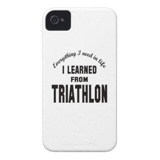 Aprendí de Triathlon. Case-Mate iPhone 4 Carcasa
