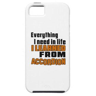 Aprendí del acordeón iPhone 5 funda