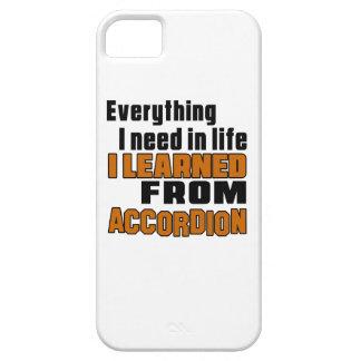 Aprendí del acordeón iPhone 5 fundas