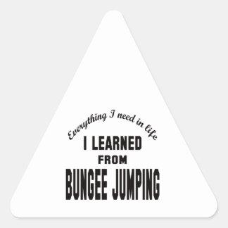 Aprendí del salto del amortiguador auxiliar pegatina triangular