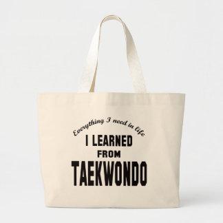 Aprendí del Taekwondo Bolsas De Mano