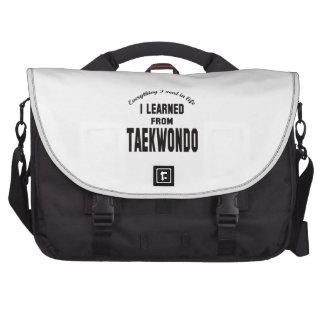 Aprendí del Taekwondo Bolsas De Ordenador