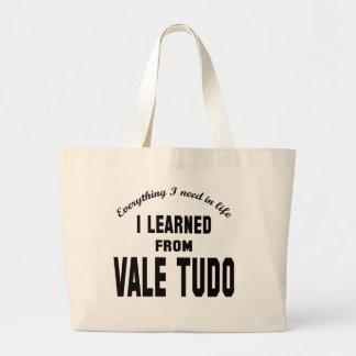 Aprendí del valle Tudo. Bolsas Lienzo