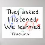Aprendí el poster de enseñanza