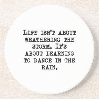 Aprendizaje bailar en la lluvia posavasos manualidades