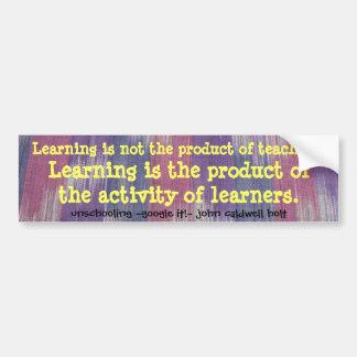 aprendizaje pegatina para auto