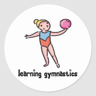 Aprendizaje de la gimnasia pegatina redonda