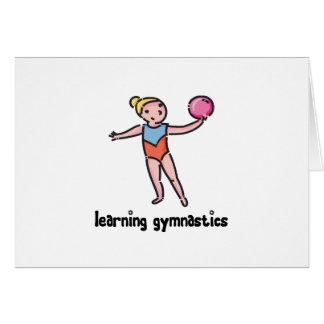 Aprendizaje de la gimnasia tarjeta de felicitación