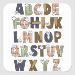 Aprendizaje de letras del alfabeto de ABCs del béi Pegatina