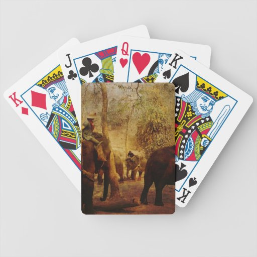 Aprendizaje de los elefantes barajas de cartas