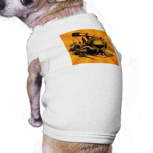 Aprendizaje del abrazo camiseta de perrito