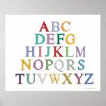 aprendizaje, letras, alfabeto poster