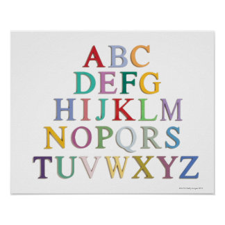 aprendizaje letras alfabeto poster