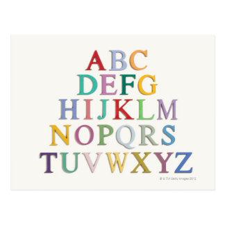 aprendizaje letras alfabeto postales