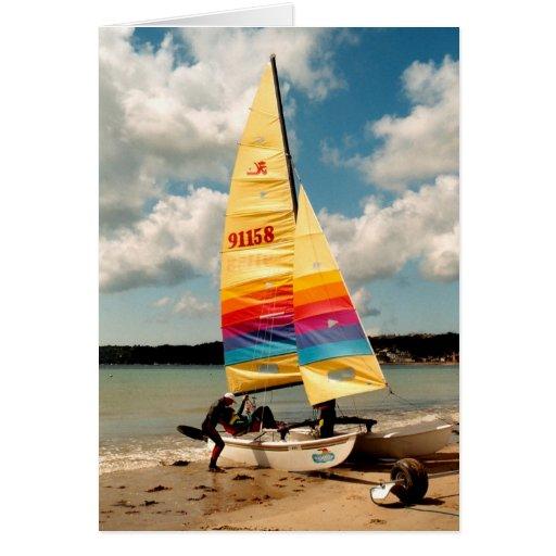 Aprendizaje navegar un catamarán de Hobie Tarjeta