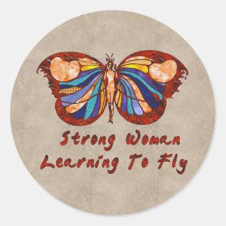 Aprendizaje volar pegatina redonda