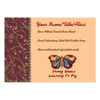Aprendizaje volar tarjetas de visita grandes