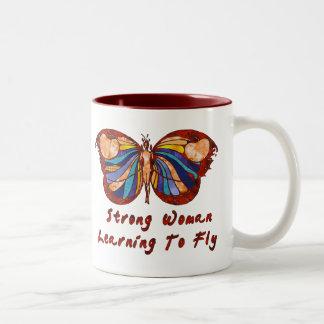 Aprendizaje volar taza de café de dos colores