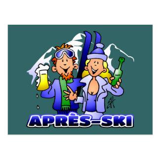 Après-esquí Postal