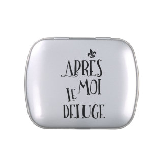 Apres Moi Le Deluge - Funny Retirement Jelly Belly Candy Tin