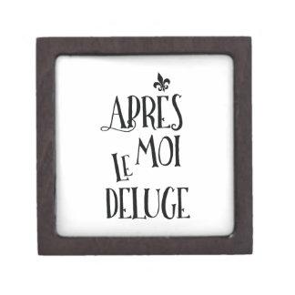 Apres Moi Le Deluge - Funny Retirement Jewelry Box