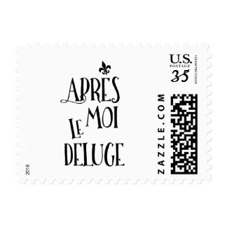 Apres Moi Le Deluge - Funny Retirement Postage Stamp