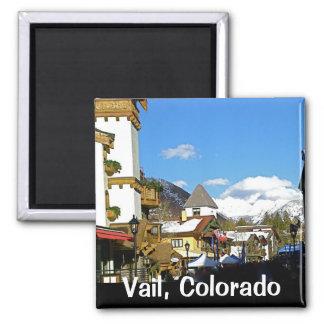 Apres Ski in Vail 2 Inch Square Magnet
