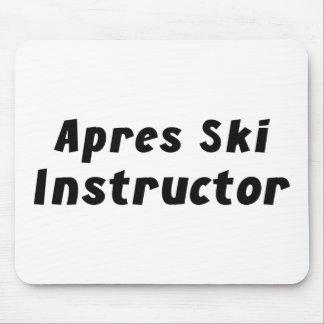 Apres Ski Instructor Mouse Pad