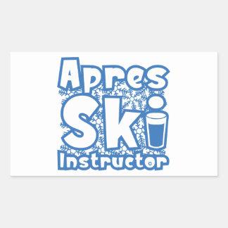 Apres Ski Instructor Rectangular Sticker