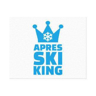 Apres ski king canvas print
