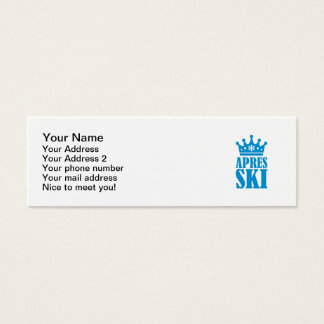 Apres ski mini business card