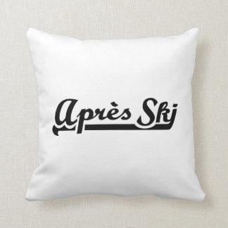 Apres ski pillows