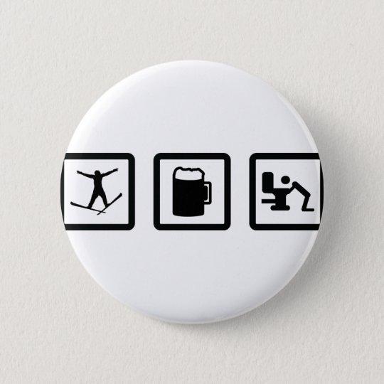 apres ski pinback button