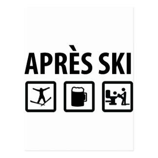 apres ski postcard