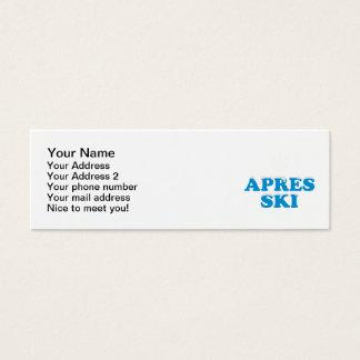 Apres ski snowflake mini business card