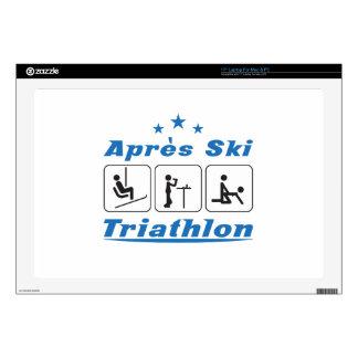 "Apres Ski Triathlon 17"" Laptop Decal"