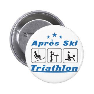 Apres Ski Triathlon Button