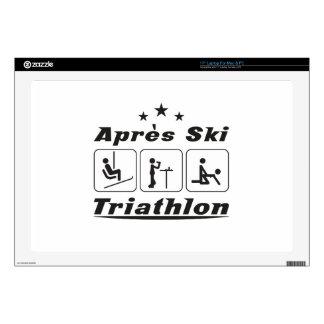 Apres Ski Triathlon Decals For Laptops