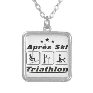 Apres Ski Triathlon Silver Plated Necklace