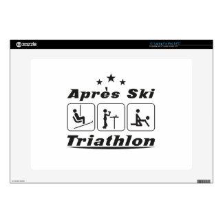 """Apres Ski Triathlon Skin For 15"""" Laptop"""