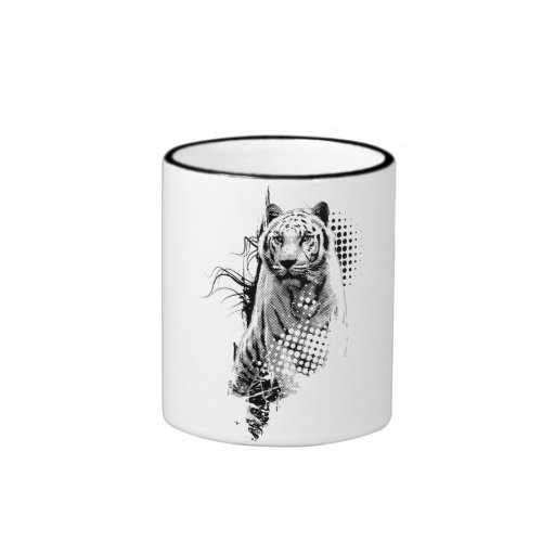 Apretado como una taza de la impresión del tigre