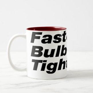 Apretado rápido y con bulbo también taza de café de dos colores