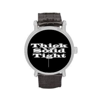 Apretado sólido grueso reloj de mano