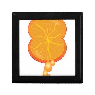 Apretón anaranjado joyero cuadrado pequeño