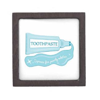 Apretón de la crema dental para los blancos cajas de joyas de calidad