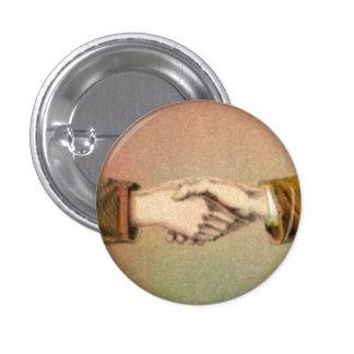 Apretón de manos botón redondo de 1 pulgada pin redondo de 1 pulgada